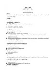 sle resume for early childhood special education teachers resume for early childhood education sles of resumes