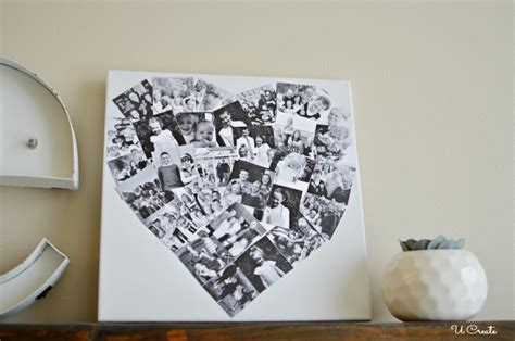diy heart photo collage  create