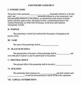 Small Business Partnership Agreement Template Business Partnership Agreement Download Documents Pdf Word