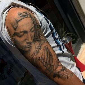 70 Praying Hands Tattoo Designs For Men - Silence The Mind