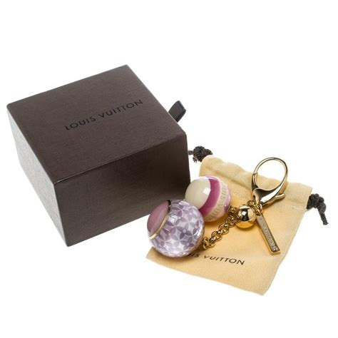 louis vuitton multicolor mini lin croisette key holder bag charm  sale  stdibs