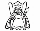 Queen Coloring Pages Queens King Kings Clipart Easy Crown Drawing Evil Chrysalis Printable Print Template Cartoon Clipartmag Getcolorings Draw Panda sketch template