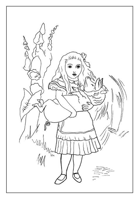 alice  wonderland coloring cards