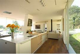 Modern Open Space Natural House Design Kitchen Open Plan Living Space Modern Residence In Beverly Hills