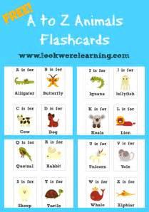 free printable flashcards alphabet animals