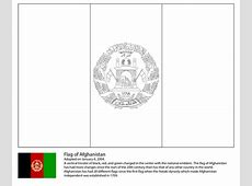 Coloriage Drapeau de l'Afghanistan Coloriages à