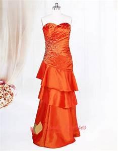 Bright Orange Prom Dresses 2016 Orange Long Layered Prom