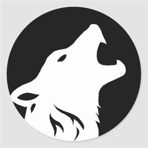 howling wolf stickers zazzlecom