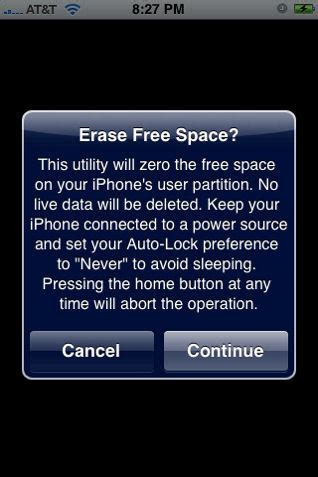ierase   space iphone app  chip