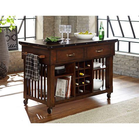 kitchen cart dining table homelegance schleiger 5400 07 industrial kitchen island