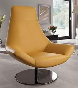 Nouveau fauteuil design cuir pied pivotant allen allan for Fauteuil pivotant