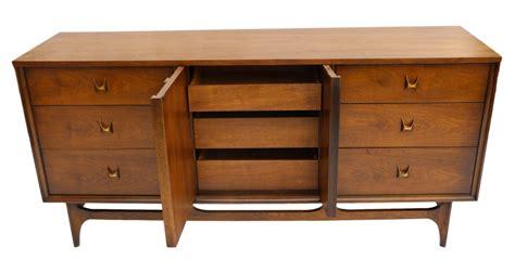 mid century broyhill walnut credenza dresser