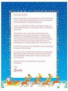 babys first christmas letter from santa sleigh design With baby s first christmas letter from santa