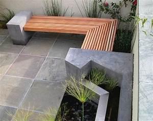 Banc Exterieur Design : meubles en b ton ou sculptures de jardin ~ Teatrodelosmanantiales.com Idées de Décoration