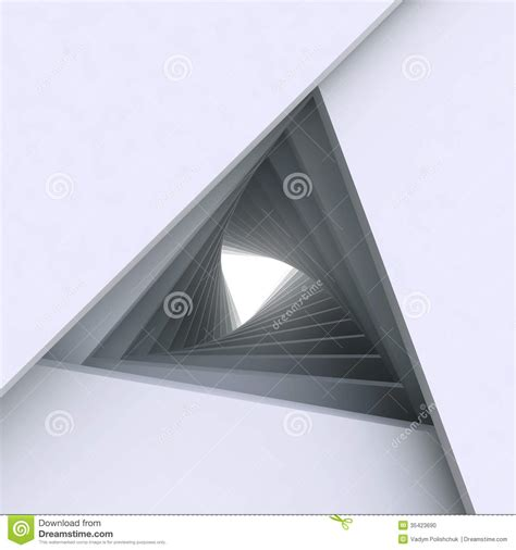 triangular form 3d abstract architecture background stock illustration