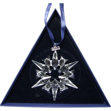 2007 swarovski crystal snowflake annual edition christmas ornament from greencountry on ruby lane