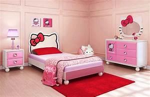 Hello Kitty Bedroom Idea for Your Cute Little Girl