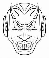 Devil Head Vector Colourbox Supplier sketch template