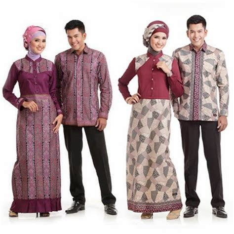 baju batik pasangan modern terbaru 2016
