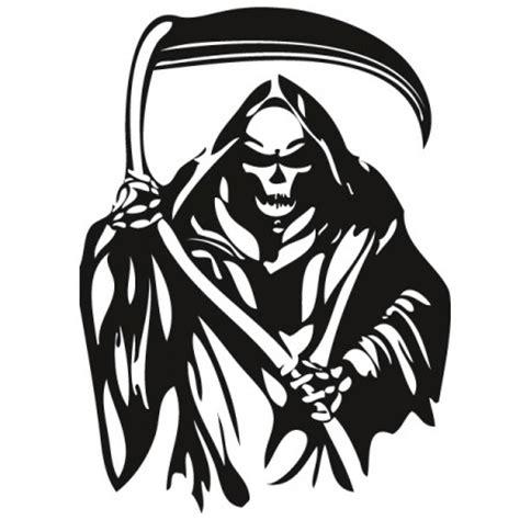 sensenmann grim reaper wandtattoo
