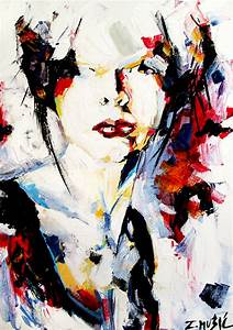 abstract-portrait -acrylic-on-canvas-contemporary-art ...