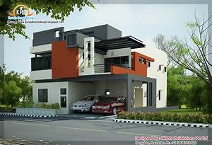 2, Beautiful, Modern, Contemporary, Home, Elevations