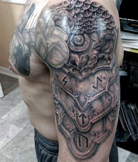 armor shoulder knight tattoo