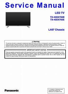 Panasonic Tx E Service Manual Complete