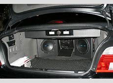 Sub box with Image dynamics Subs BMW M5 Forum and M6 Forums