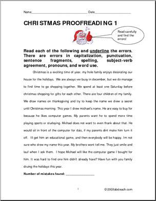 christmas theme upper elementary proofreading i abcteach abcteach