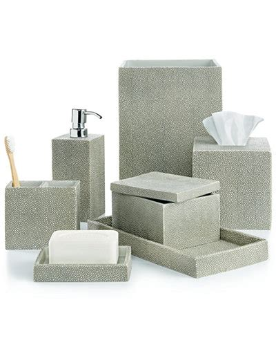 Closeout! Hotel Collection Shagreen Bath Accessories