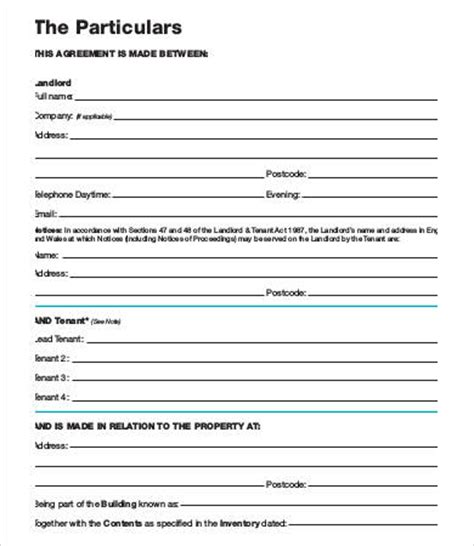 Letting Agreement Template Free by Tenancy Agreement Template 16 Free Word Pdf Documents