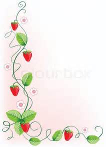 revival home plans ripe strawberries and green leaves with flowers vector