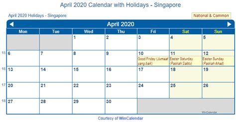 print friendly april  singapore calendar  printing