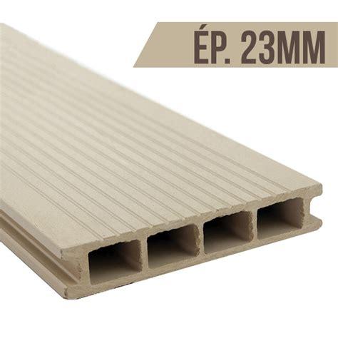 lame bois composite lame terrasse en bois composite blanc tradeck