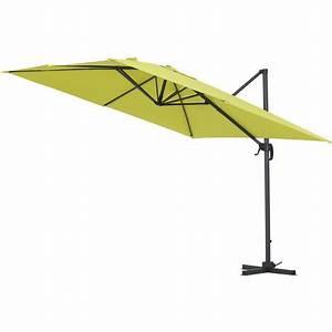 Parasol Déporté Aluminium : parasol jardin d port alu sun 3 carr 3 x 3 m vert 1047 68261 jardin piscine ~ Teatrodelosmanantiales.com Idées de Décoration