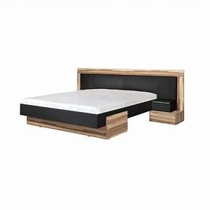 Lit Bois Massif Design : lit en bois massif nero t te de lit incluse ~ Teatrodelosmanantiales.com Idées de Décoration