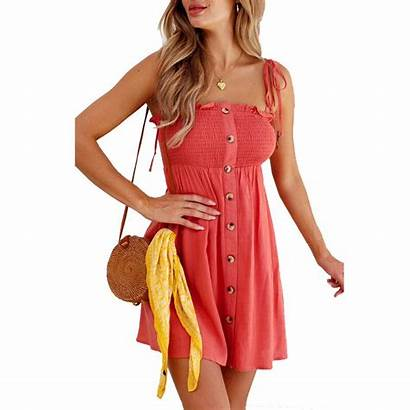 Strap Spaghetti Casual Beach Summer Sundresses Dresses