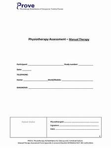 Manual Therapy Assessment Form