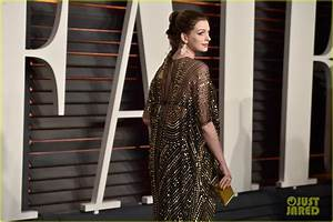 Full Sized Photo of anne hathaway vanity fair oscars party ...
