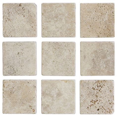 jeffrey court 4 in x 4 in light travertine tumbled wall