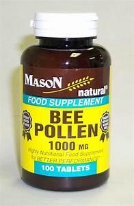 Bee Pollen 1000 Mg Food Supplements Tablets 100