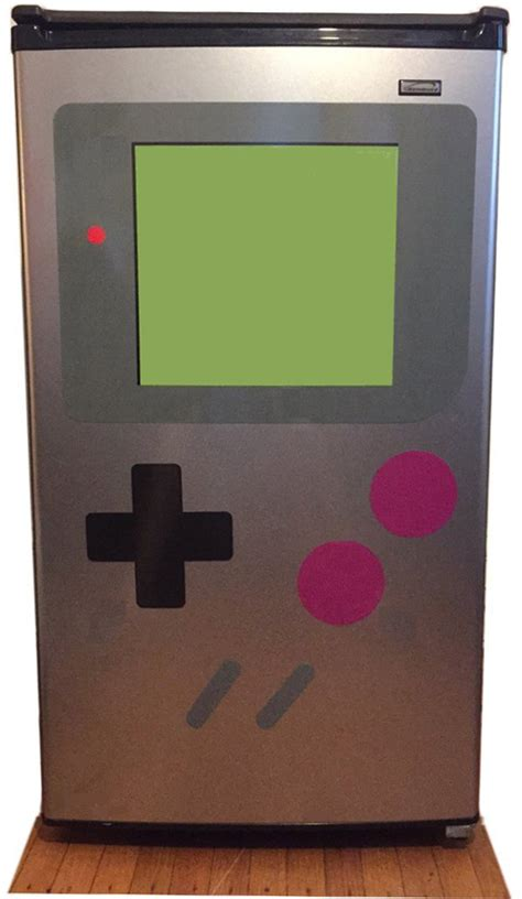 how to make your fridge look like a cabinet these magnets make your fridge look like a giant gameboy