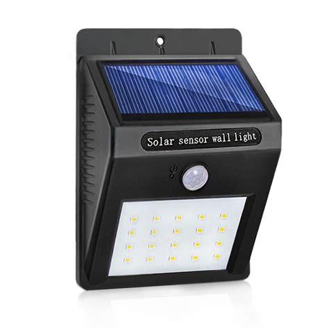 led solar l waterproof pir motion sensor solar light