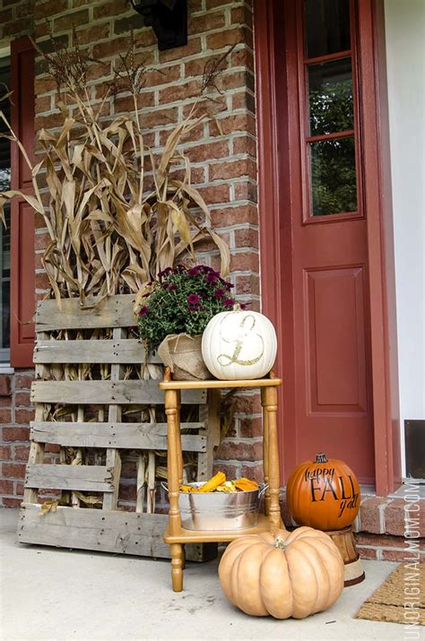 moulding front porch cozy how to create a cozy fall front porch unoriginal