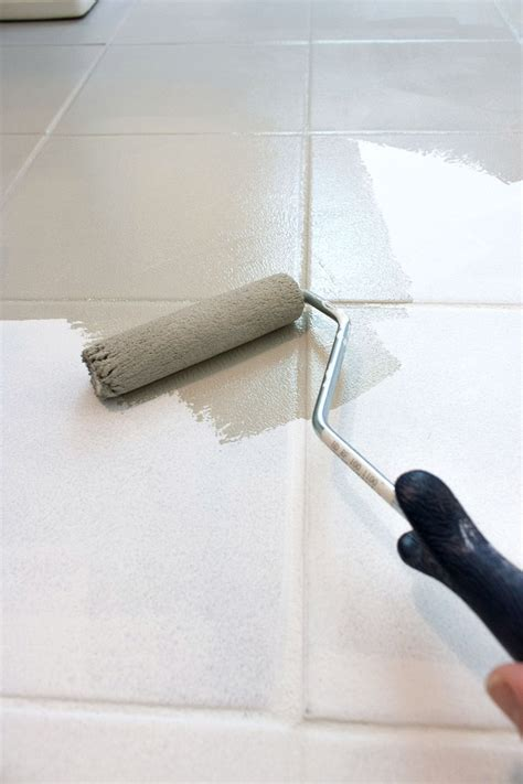 Painting Tile Floors In Bathroom by How I Painted Our Bathroom S Ceramic Tile Floors A Simple