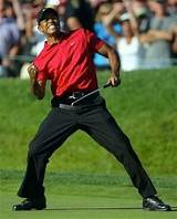Tiger woods fist pumps