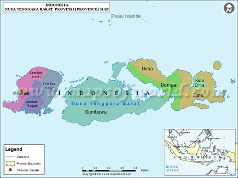 nusa tenggara barat map map of nusa tenggara barat