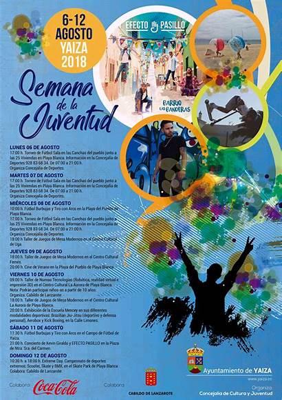 Semana Agosto Cultural Juventud Yaiza Ayuntamiento Cartel