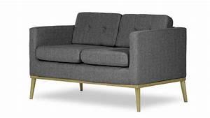 canape 2 places tolbon en tissu avec dossier capitonne With tapis ethnique avec canapé scandinave convertible 2 places